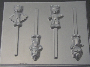 550sp Bedtime Heroes Chocolate Candy Lollipop Mold