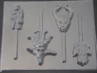 551sp Princess Movie Villains Chocolate Candy Lollipop Mold