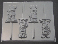 553sp Farmer Famous Male and Female Mouse Chocolate Candy Lollipop Mold