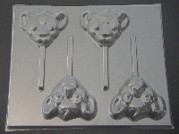 561sp Simbo Face Chocolate or Hard Candy Candy Lollipop Mold