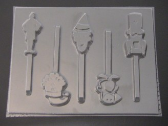 568sp/267c Elf Christmas Holiday Movie Chocolate Candy Lollipop Mold