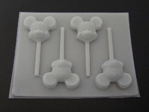 100sp Famous Male Mouse Chocolate or Hard Candy Lollipop Mold