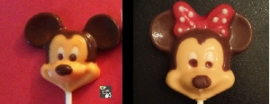 103sp Male Female Mouse Chocolate or Hard Candy Lollipop Mold