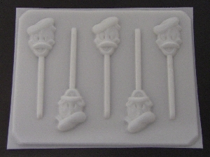 106sp Male Duck Face Chocolate or Hard Candy Lollipop Mold