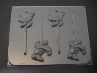 110sp Silly Dog Face Chocolate or Hard Candy Lollipop Mold