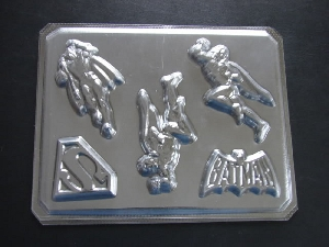 112sp Supercape and Batcape Chocolate or Hard Candy Mold