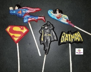 112sp Supercape, Batcape, and Amazing Woman Chocolate Candy Mold  IMPROVED