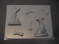 114sp Planet Dog 3D Chocolate Candy Mold