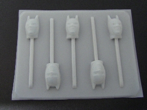 120sp Capeman Face Chocolate or Hard Candy Lollipop Mold