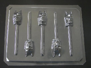 120sp Capeman Face Chocolate Candy Lollipop Mold