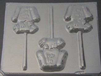 122sp Blue Dog Chocolate or Hard Candy Lollipop Mold