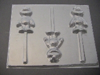 126sp Yellow Chicken Friend Chocolate Candy Lollipop Mold