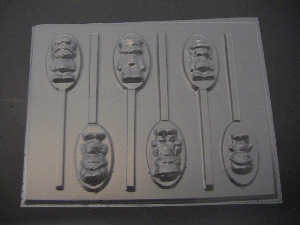 129sp Turnover and Friends Chocolate or Hard Candy Lollipop Mold