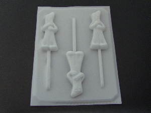 130sp Gumby Chocolate or Hard Candy Lollipop Mold