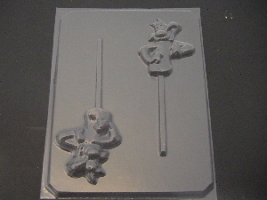 131sp Sly Cat Chocolate or Hard Candy Lollipop Mold