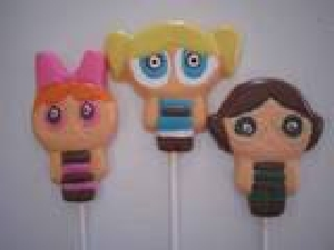 135sp Little Powerful Girls Chocolate or Hard Candy Lollipop Mold