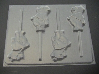 138sp Honey Bear Chocolate or Hard Candy Lollipop Mold