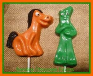 147sp Pokey Horse Chocolate or Hard Candy Lollipop Mold
