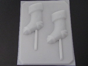 202 Christmas Stocking Chocolate or Hard Candy Lollipop Mold