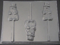 203 Snowman Chocolate Candy Lollipop Mold