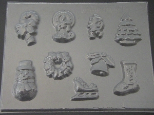 214 Assorted Christmas Holiday Pieces Chocolate Candy Mold
