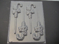 217 Candy Cane Chocolate or Hard Candy Lollipop Mold