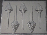 220 Christmas Tree Chocolate or Hard Candy Lollipop Mold