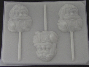 227 Santa Face Large Chocolate or Hard Candy Lollipop Mold