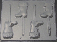 235 Santa Boot Chocolate Candy Lollipop Mold