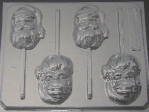 236 Santa Face Chocolate or Hard Candy Lollipop Mold