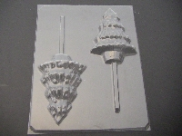 239 Christmas Tree Chocolate or Hard Candy Lollipop Mold