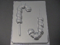 247 Candy Cane Large Chocolate or Hard Candy Lollipop Mold