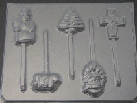 256 Assorted Christmas Pieces Chocolate Candy Lollipop Mold