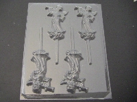 261 Angel with Trumpet Chocolate or Hard Candy Lollipop Mold