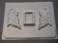 266 3D Santa Sleigh Chocolate Candy Mold