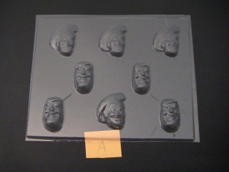 426sp Woodsman and Fuzzy Lightyear Face Chocolate Candy Mold FACTORY SECOND