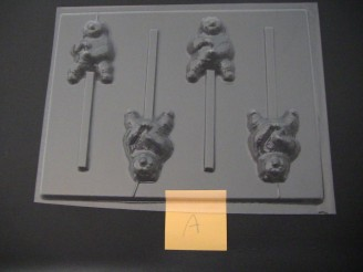538sp Karate Panda Chocolate Candy Lollipop Mold FACTORY SECOND