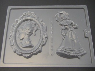 D104 Victorian Girl Cameo Chocolate Mold  LAST ONE!