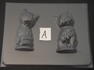 640 3D Cat Chocolate Candy Mold  FACTORY SECOND