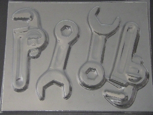 1108 Plumber Wrench Tool Chocolate Candy Mold