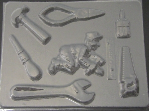 1110 Carpenter Tools Chocolate Candy Mold