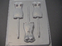 1610 Corset Chocolate or Hard Candy Lollipop Mold