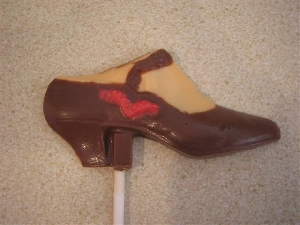 1614 Trendy High Heel Shoe Chocolate Candy Lollipop Mold