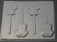 1101 Shirt Chocolate or Hard Candy Lollipop Mold