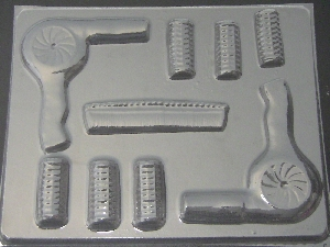 1611 Hairdresser Stylist Set Chocolate Candy Mold