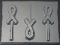 1615 Awareness Ribbon Chocolate or Hard Candy Lollipop Mold