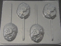 813 Egg Chocolate or Hard Candy Lollipop Mold