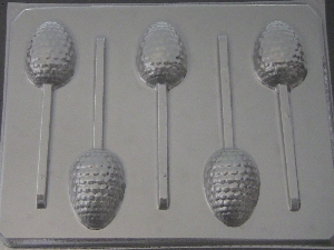 818 Bumpy Golf Ball Egg Chocolate or Hard Candy Lollipop Mold