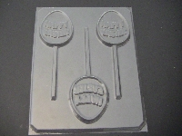 823 Happy Easter Egg Chocolate or Hard Candy Lollipop Mold