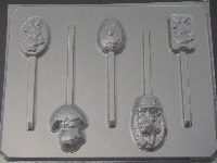 829 Easter Assorted Chocolate or Hard Candy Lollipop Mold